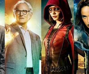 Constantine, Supergirl, and hawkman image