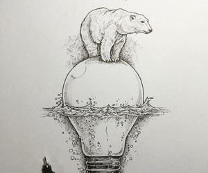 art, bear, and draw image