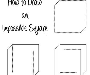 drawing, illusion, and square image