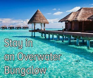 bucket list, bungalow, and places image