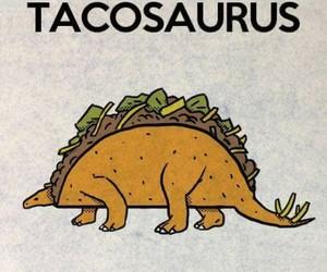 dinosaur, taco, and funny image