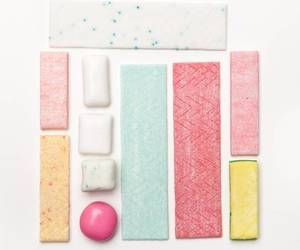 gum, pink, and food image