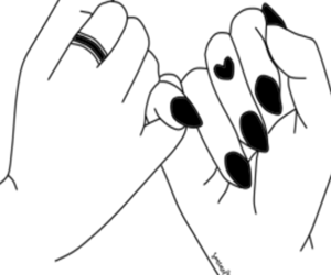 wallpaper, hand, and outline image