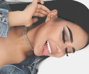 black hair, chokers, and earring image