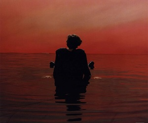 red, harrystyles, and signofthetimes image