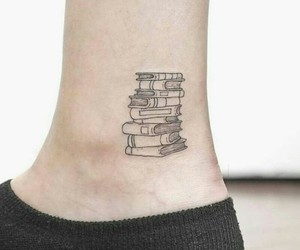 beautiful, books, and tattoo image