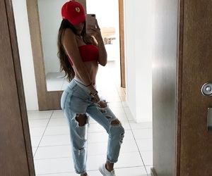 outfit, body, and goals image