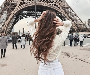 paris, girl, and hair image