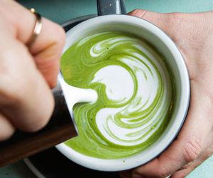 latte, tea, and matcha image