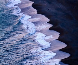 beach, ocean, and waves image