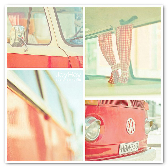 car, vintage, and bus image
