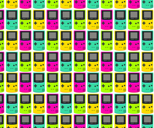 background, colors, and gameboy image