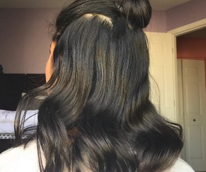 brown, buns, and classy image