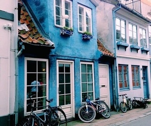 blue, house, and place image