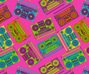 background, boombox, and neon image