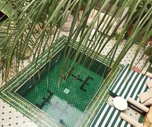 ibiza, palms, and pool image