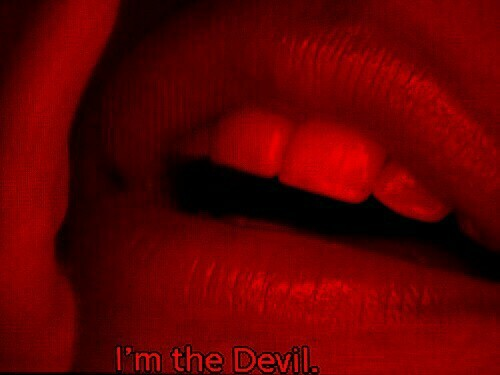 lips, Devil, and quotes image