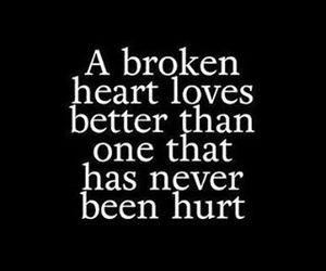 broken, heart, and love image