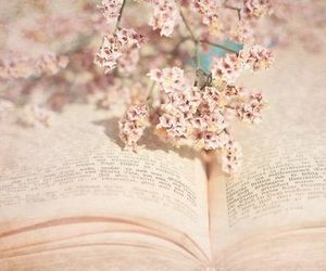 flower, spring, and book image