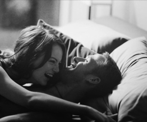 bed, kiss, and laughing image
