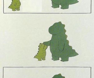 attention, dinosaur, and funny image