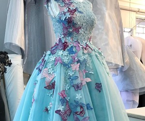 dress, fashion, and blue dress image