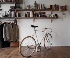 book, home, and bicycle image