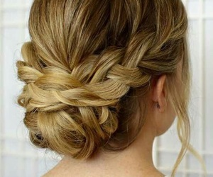 beauty, chignon, and hair image