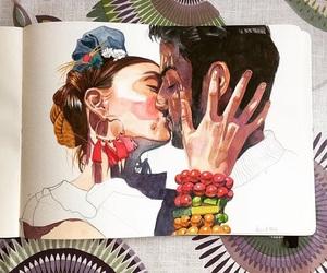 art, bracelets, and earrings image