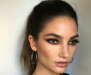 model, Lily Aldridge, and makeup image