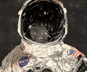 astronaut, space, and art image