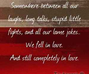 in love, jokes, and laughs image