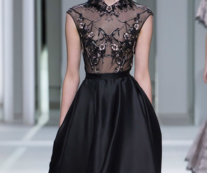 black, black dress, and Couture image