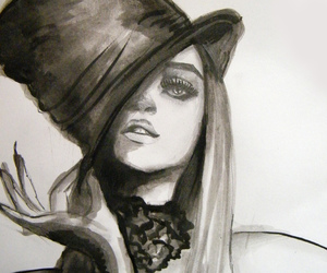 black and white, carnival, and drawing image