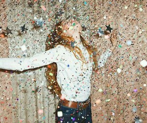 girl, party, and glitter image