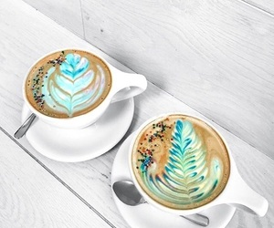 blue, chocolate, and coffee image