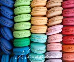 colorful, desserts, and french macaroons image