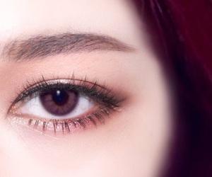 eye, makeup, and ulzzang image