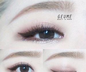 eye, ulzzang, and makeup image