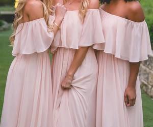 bridesmaid, dress, and hair image
