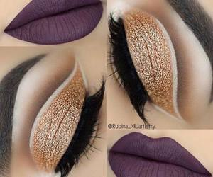 eyebrow, eyeshadow, and lashes image