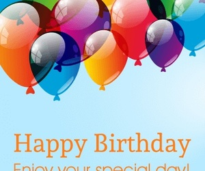 balloon, birthday, and happy image
