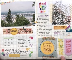 creative, flowers, and journal image