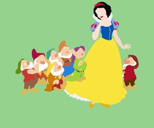 branca de neve, disney, and pixar image