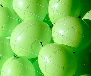 green, balloons, and color image