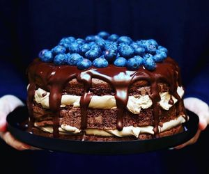 blueberry, french food, and cake image