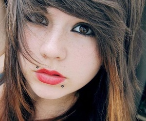 girl, piercing, and emo image