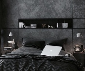 bedroom, black, and room image