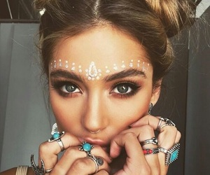 bohemian, hair style, and rings image