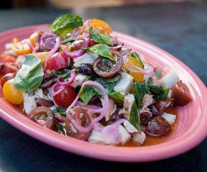 basil, onion, and salad image